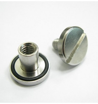SS nut and bolt with o-ring long (14 mm)