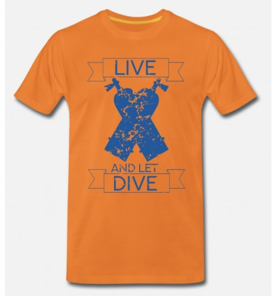 T-Shirt LIVE and DIVE