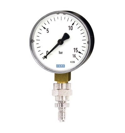Pressure gauge to control the interstage pressure